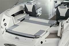 Convertible Sunpad of a Cruisers Yachts 238 Bow Rider