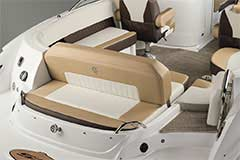 Convertible Sunpad of a Cruisers Yachts 258 Bow Rider