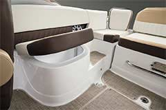 Seat Storage of a Cruisers Yachts 258 Bow Rider