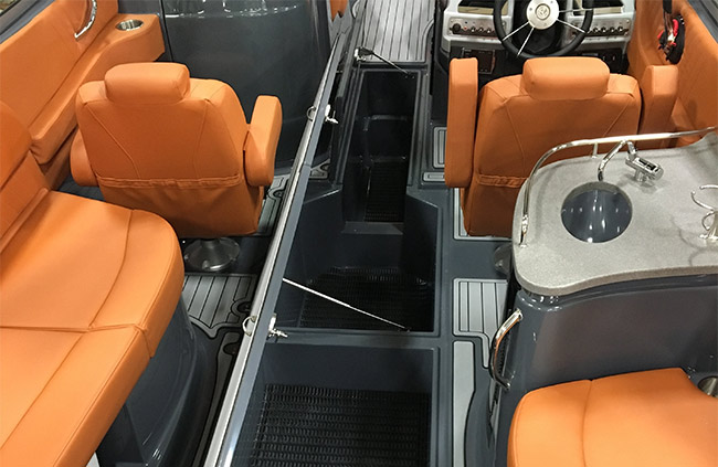 Under-Floor Storage of a Cruisers Yachts 278 South Beach Edition - Bow Rider
