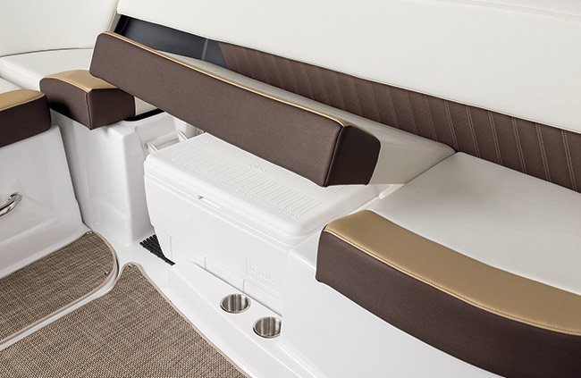 Cooler Storage of a Cruisers Yachts 298 Bow Rider