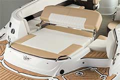 Convertible Sunpad of a Cruisers Yachts 298 Bow Rider