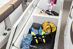 Floor Storage of a Cruisers Yachts 298 Bow Rider