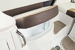Seat Storage of a Cruisers Yachts 298 Bow Rider