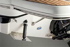 Trim Tabs of a Cruisers Yachts 298 Bow Rider