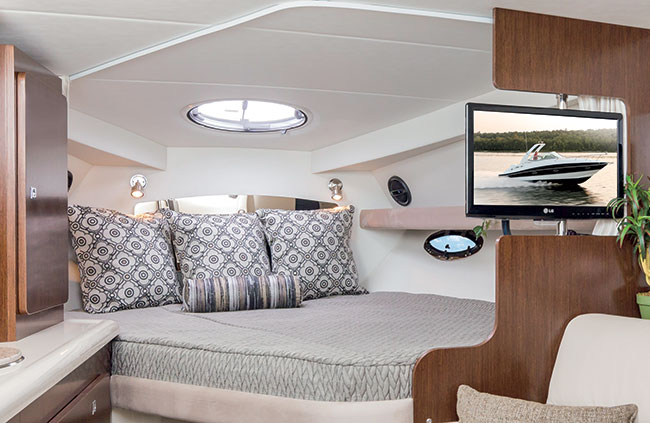 Forward Stateroom of a Cruisers Yachts 315 Express
