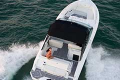 Top Sunpad of a Cruiser Yachts 338 Outboard