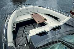 Bow Seating of a Cruisers Yachts 338 Bow Rider