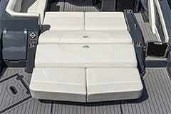 Convertible Sunpad of a Cruisers Yachts 338 Bow Rider