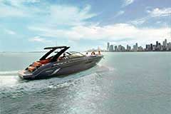 Exterior of a Cruisers Yachts 338 South Beach Edition - Bow Rider