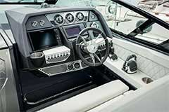 Helm of a Cruisers Yachts 338 South Beach Edition - Bow Rider