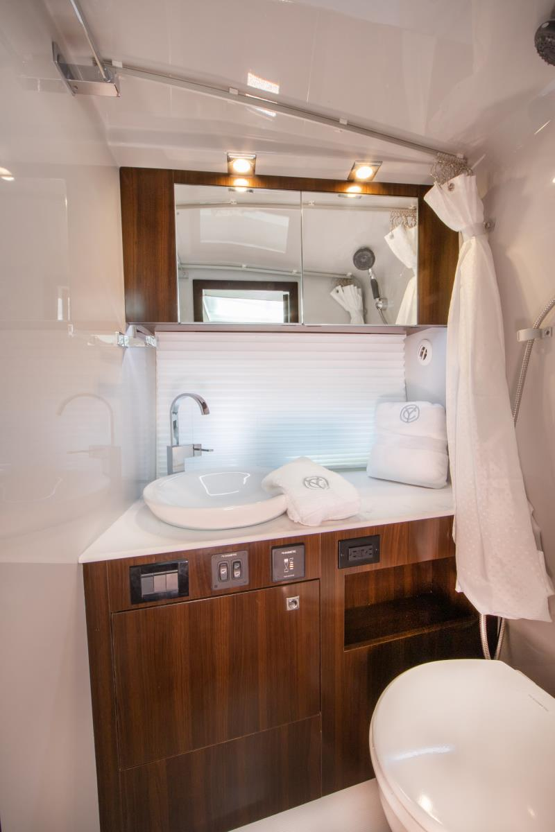 Stateroom of a Cruiser Yachts 34 GLS