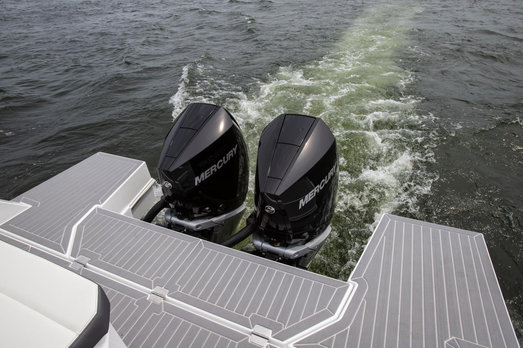 Engines of a Cruiser Yachts 34 GLS