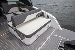 Aft Lounge Bench of a Cruiser Yachts 34 GLS