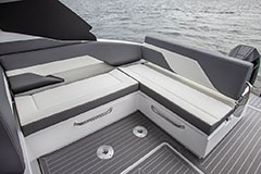 Cockpit Seating Starboard of a Cruiser Yachts 34 GLS