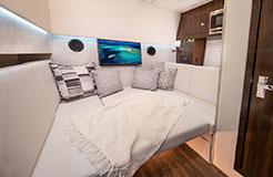 Lower Salon Berth of a Cruiser Yachts 34 GLS