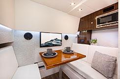 Lower Salon Dinette of a Cruiser Yachts 34 GLS