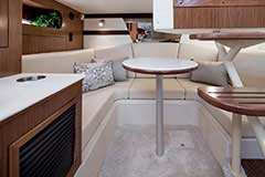 Dinette of a Cruisers Yachts 35 Express
