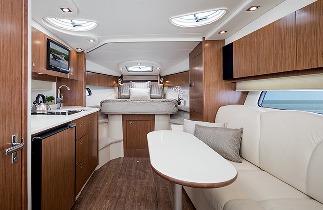 Lower Salon of a Cruisers Yachts 35 Express