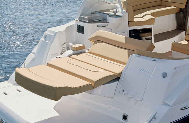 Aft Deck of a Cruisers Yachts 39 Express