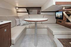 Dinette with Table of a Cruisers Yachts 39 Express