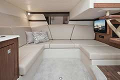 Dinette without Table of a Cruisers Yachts 39 Express