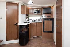 Galley of a Cruisers Yachts 39 Express