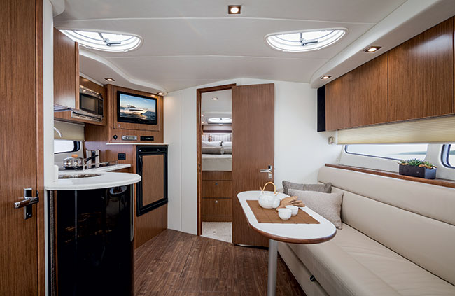 Lower Salon of a Cruisers Yachts 39 Express