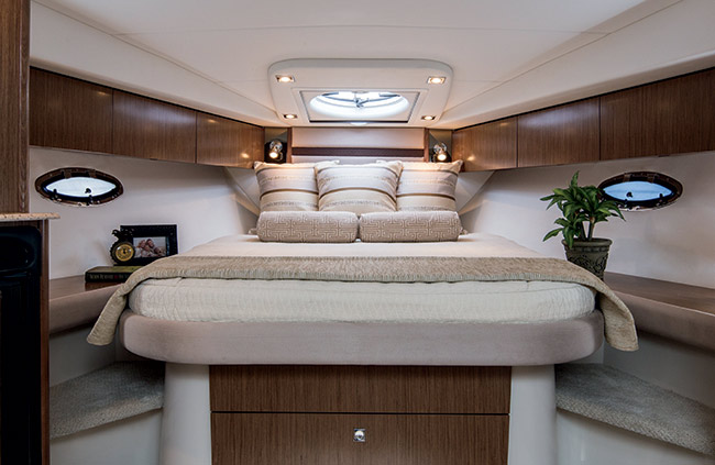 Master Stateroom of a Cruisers Yachts 39 Express