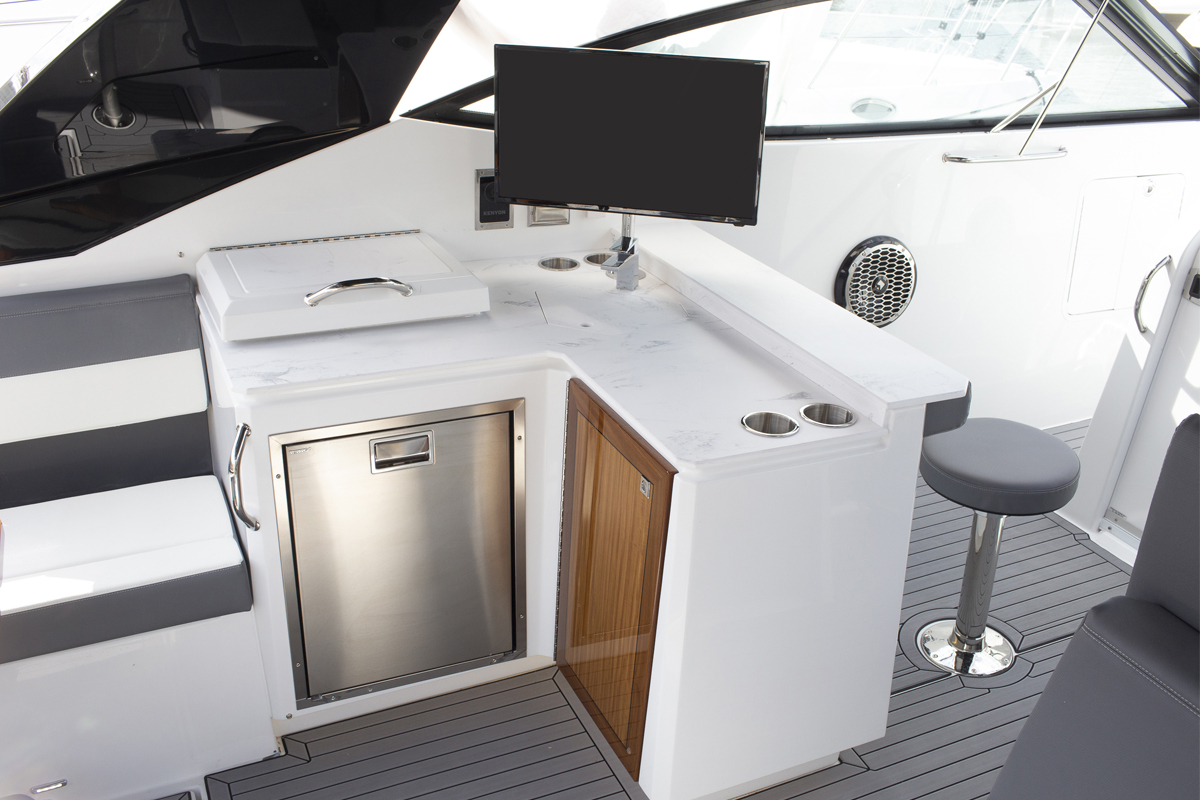 Galley of a Cruiser Yachts 38 GLS