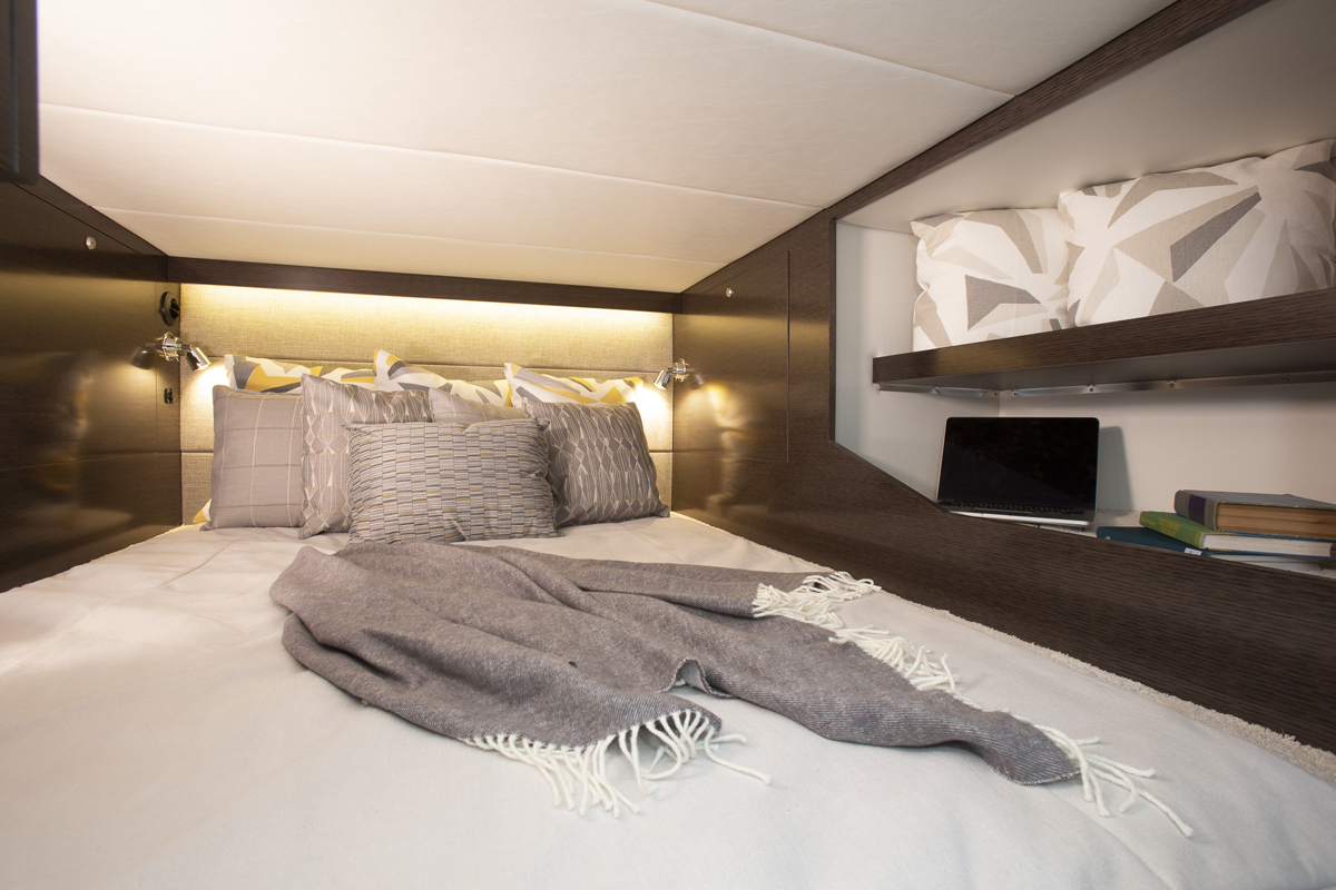 Aft Stateroom of a Cruiser Yachts 38 GLS