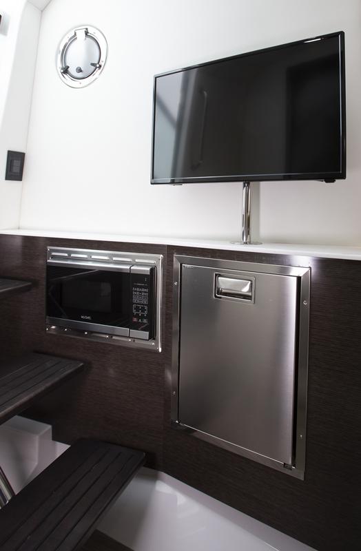 Lower Salon of a Cruiser Yachts 38 GLS I/O