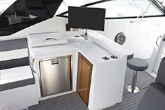 Galley Upper Salon of a Cruiser Yachts 38 GLS