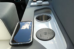Conductive Phone Charging Pad of a Cruiser Yachts 38 GLS