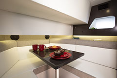 Dinette w/ Table of a Cruiser Yachts 38 GLS
