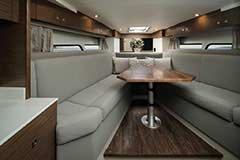 Lower Salon of a Cruisers Yachts 39 Express Coupe