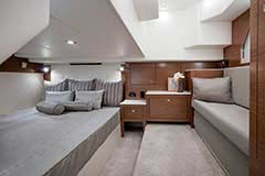 Master Stateroom of a Cruisers Yachts 39 Express Coupe