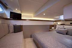 Aft Stateroom of a Cruiser Yachts 42 Cantius