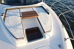 Bow Lounge of a Cruiser Yachts 42 Cantius