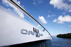 Detail of a Cruiser Yachts 42 Cantius