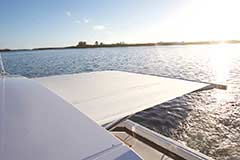 Sunshade of a Cruiser Yachts 42 Cantius