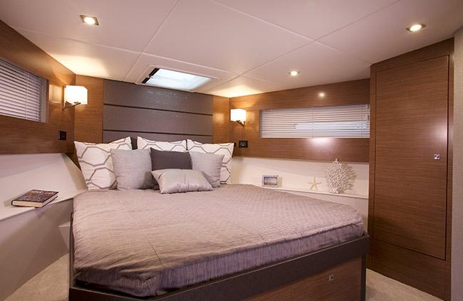 Master Stateroom of a Cruiser Yachts 42 Cantius