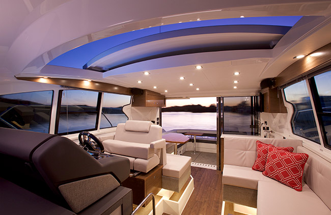Upper Salon of a Cruiser Yachts 42 Cantius