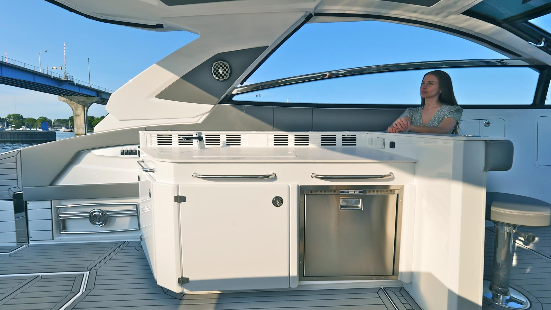 Beach Door of a Cruiser Yachts 42 GLS