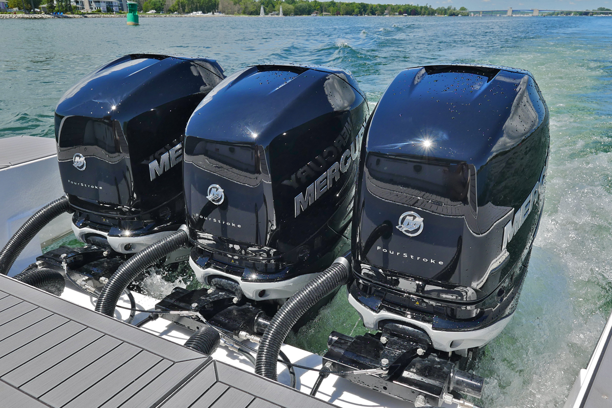 Engines of a Cruiser Yachts 42 GLS