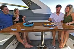 U Shaped Seating Port of a Cruiser Yachts 42 GLS