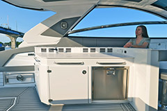 Galley of a Cruiser Yachts 42 GLS