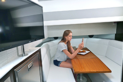 Lower Salon of a Cruiser Yachts 42 GLS