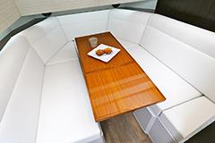 Lower Salon Dinette of a Cruiser Yachts 42 GLS