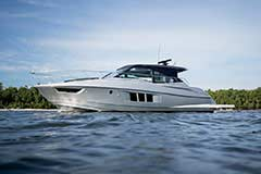 Exterior Black Diamond of a Cruiser Yachts 45 Cantius